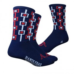 Handlebar Mustache Don't be a Square socks (navy)