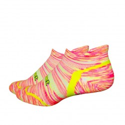 Chaussettes Defeet D-Evo Tabby Groovy Rose Jaune