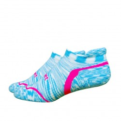 Defeet D-EvoTabby Groovy Space Dyed Light Blue Hi Vis Pink