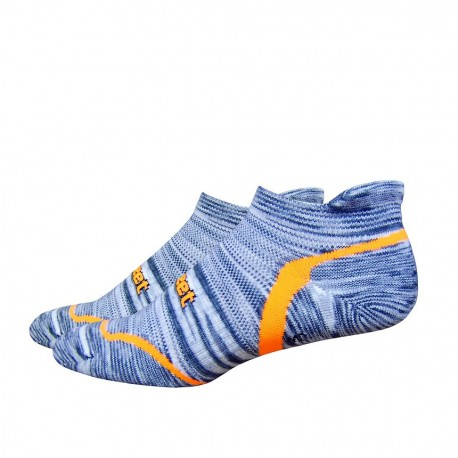 Chaussettes Defeet D-Evo Tabby Groovy Gris Jaune