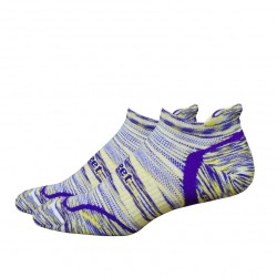 Chaussettes Defeet D-Evo Tabby Groovy Violet Jaune