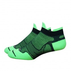 Defeet Meta Tabby Hi-Vis Green Black