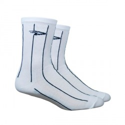Chaussettes Defeet Aireator Hi-Top Pinstripes blanc