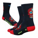 Defeet Aireator tall sugarskull black/red