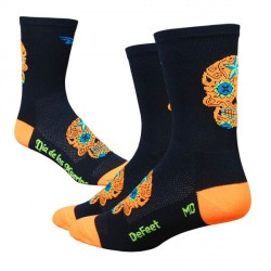 Defeet Aireator tall sugarskull black/orange