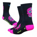 Defeet Aireator tall sugarskull black/pink