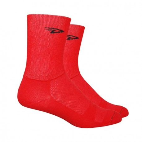 Chaussettes Defeet Aireator Hi-Top double layer rouge