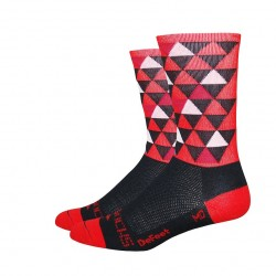 "DeFeet Aireator sako7socks 6"" Hi Top Pro Solitude red"