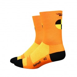Chaussettes Defeet Aireator Hi-Top double layer crash test orange fluo
