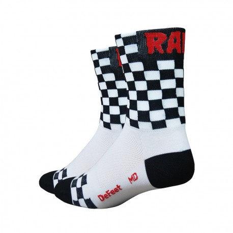 Chaussettes DeFeet Aireator Checkmate noir