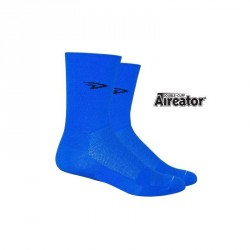 Chaussettes Defeet Aireator Hi-Top double layer bleu