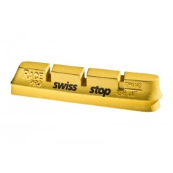 4 Swissstop yellow king pads for carbon rims