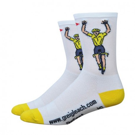 Chaussettes Defeet Aireator Greg Leach maillot jaune
