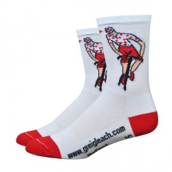 Defeet Aireator Greig Leach polka dots Jersey king of the mountain socks