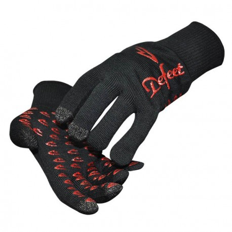 Defeet duragloves etouch black & red