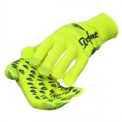 Defeet duragloves etouch yellow with vintage logo