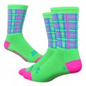 "DeFeet Ridge Supply 6"" Aireator - Neon Tartan"