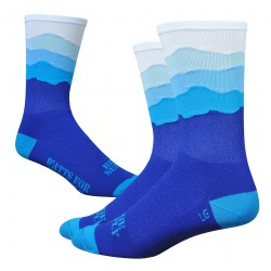 Chaussettes DeFeet Ridge Supply Skyline bleu