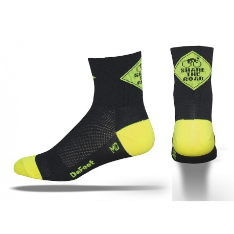 Chaussettes DeFeet Aireator 3 pouces share the road