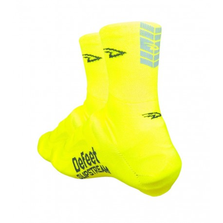 Defeet slipstream neon hivis yellow with reflector