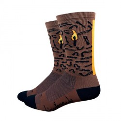 Chaussettes DeFeet BicycleCrumbs marron