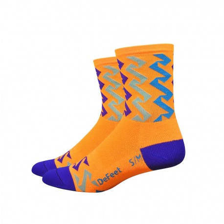 Chaussettes DeFeet streamers orange