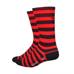 DeFeet Aireator black & red stripes 6 inches