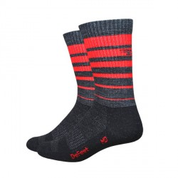 Chaussettes Defeet Classico rouge