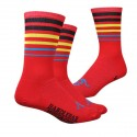 Chaussettes DeFeet Handlebar Mustache Between the lines rouge