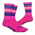 "Chaussettes DeFeet Handlebar Mustache ""The Wall"" rose"