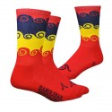 """DeFeet Handlebar Mustache Aireator 6"""" """"amongst the waves"""" red."""