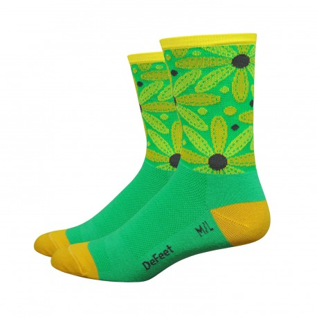 Chaussettes DeFeet Aireator  Stitch daisy vert