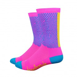 Chaussettes DeFeet BicycleCrumbs cercles roses