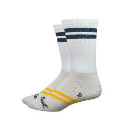 Chaussettes Defeet Classico Strawfoot blanc