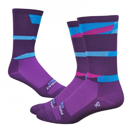 Chaussettes DeFeet Ornot violet