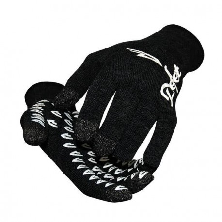 Defeet duragloves etouch black with white vintage logo