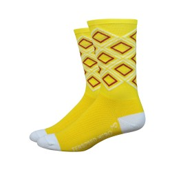 Chaussettes DeFeet Ten Speed Hero diamants jaunes