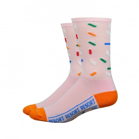 Chaussettes DeFeet Ten Speed Hero Sprinkles rose