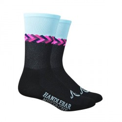 "Chaussettes DeFeet Handlebar Mustache ""Don't get it twisted"" noir"