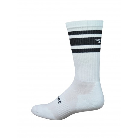 DeFeet D-Evo crew white and black stripes
