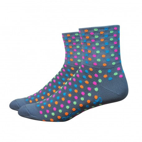 Chaussettes Defeet Aireator Spotty gris