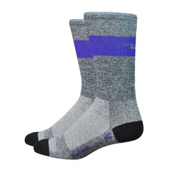 "Defeet Aireator SL 6"" grey and purple"