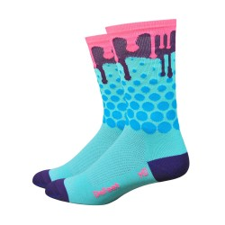 "Chaussettes Defeet Aireator 6"" Drip"