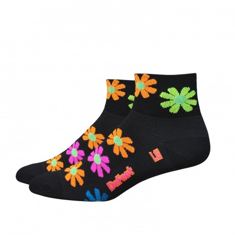 "Chaussettes Defeet Aireator 3"" Flower Power"