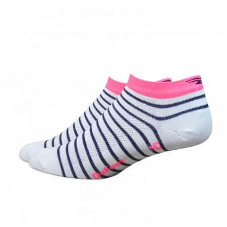 "Defeet Aireator 6"" Hi-Top Navy blue with pink stripe  Sailor"