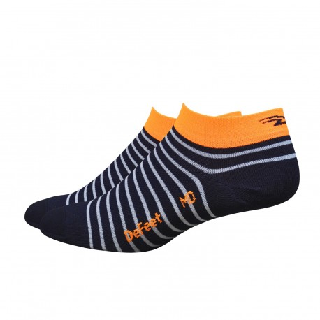 "Defeet Aireator 1"" Navy blue with orange stripe  Sailor"