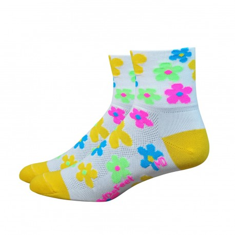 """Chaussettes Defeet Aireator 3"""" Pedals blanc"""