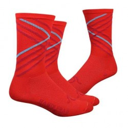 Handlebar Mustache socks crossroads red