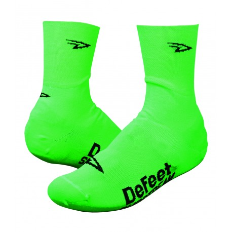 Defeet Slipstream neon green shoe covers