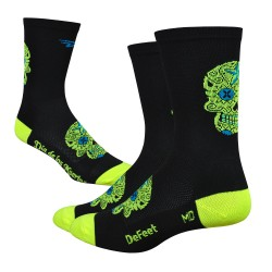 DeFeet Sugarskull yellow hivis